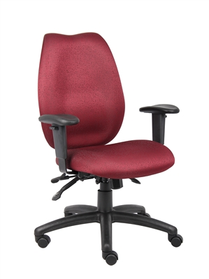 Boss Burgundy Ergonomic Chair
