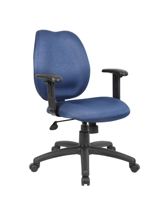 Boss Blue Task Chair W/ Adjustabl Arms