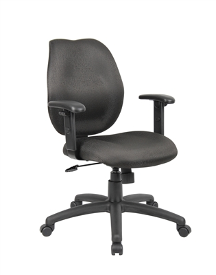 Boss Black Task Chair W/ Adjustabl Arms