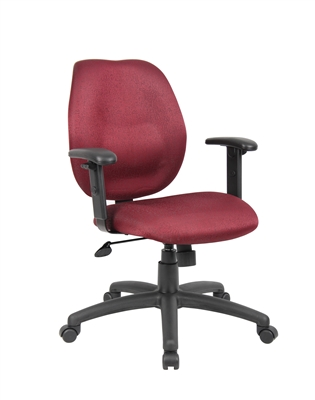 Boss Burgundy Task Chair W/ Adjustabl Arms