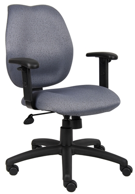 Boss Gray Task Chair W/ Adjustabl Arms