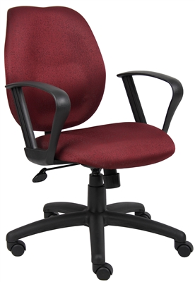 Boss Burgundy Task Chair W/Loop Arms