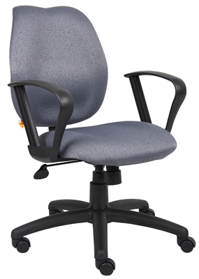 Boss Gray Task Chair W/Loop Arms