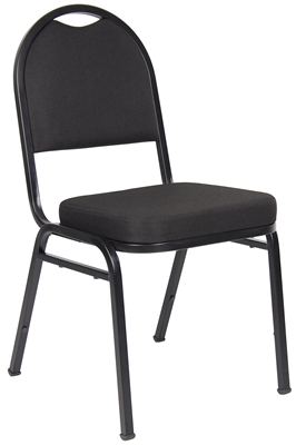 Boss Black Crepe Banquet Chair (4 Pack)