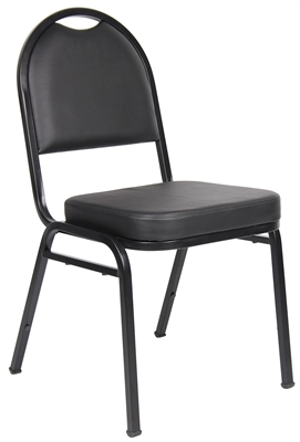 Boss Black Caressoft Banquet Chair (4 Pack)