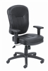 Boss Black Leather Task Chair W/ Arms
