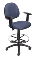 Boss Drafting Stool (B315-Be) W/Footring And Adjustable Arms