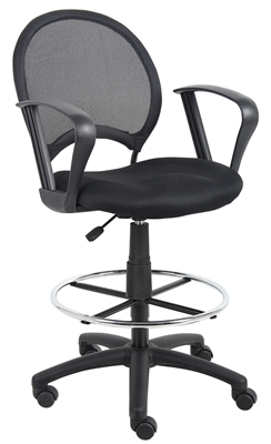 Boss Mesh Drafting Stool W/ Loop Arms