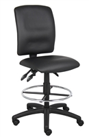 Boss Multi-Function Leatherplus Drafting Stool