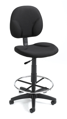 Boss Black Fabric Drafting Stools W/Footring