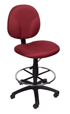 Boss Burgundy Fabric Drafting Stools W/Footring