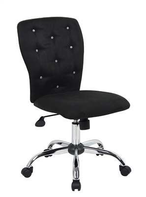 Tiffany Microfiber Chair-Black
