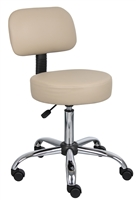 Boss Beige Caressoft Medical Stool W/ Back Cushion
