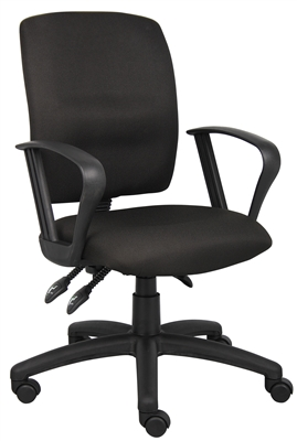 Boss Multi-Function Fabric Task Chair W/Loop Arms