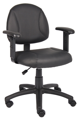 Boss Black Posture Chair W/ Adjustable Arms