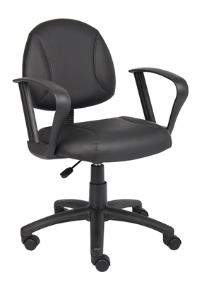 Boss Black Posture Chair W/ Loop Arms