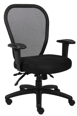 Boss Mesh Chair W/3 Paddle Mech