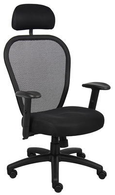 Boss Professional Managers Mesh Chair W/ Headrest