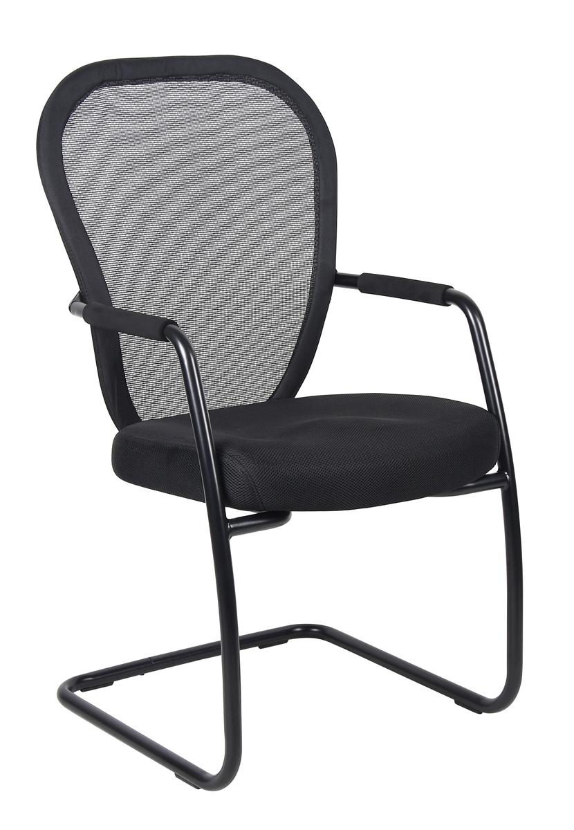 Boss Mesh Guest Chair W Black Sled Base