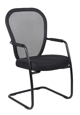 Boss Mesh Guest Chair W/ Black Sled Base