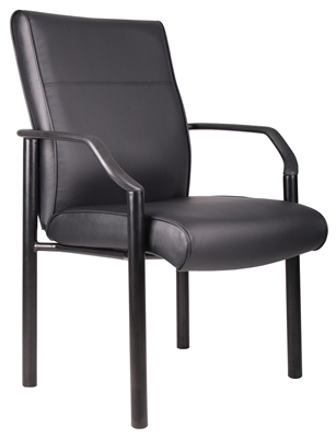 Boss Mid Back Guest Chair In Leatherplus