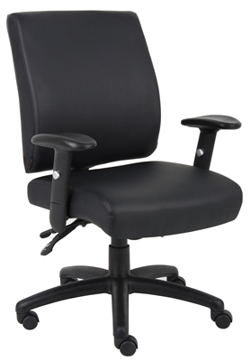 Boss Mid Back Caressoft Multi Function Executive Chair W/ Seat Slider