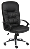 Boss High Back Leatherplus Chair W/ Chrome Base