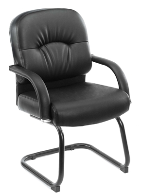 Boss Mid Back Caressoft Guest Chair In Black