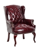 Boss Traditonal oxblood side chair