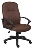 Boss Mid Back Fabric Managers Chair In Bomber Brown