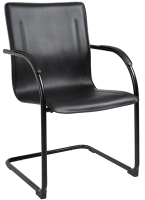 Boss Black Frame Black Vinyl Side Chair, 4Pcs Per Pack