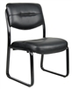 Boss Leather Sled Base Side Chair