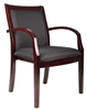 Boss Mahogany Finished Wood Slat Chair W/ Removable Back,  1 Pieces Per Carton