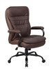 Boss Heavy Duty Double Plush LeatherPlus Chair - 350 Lbs