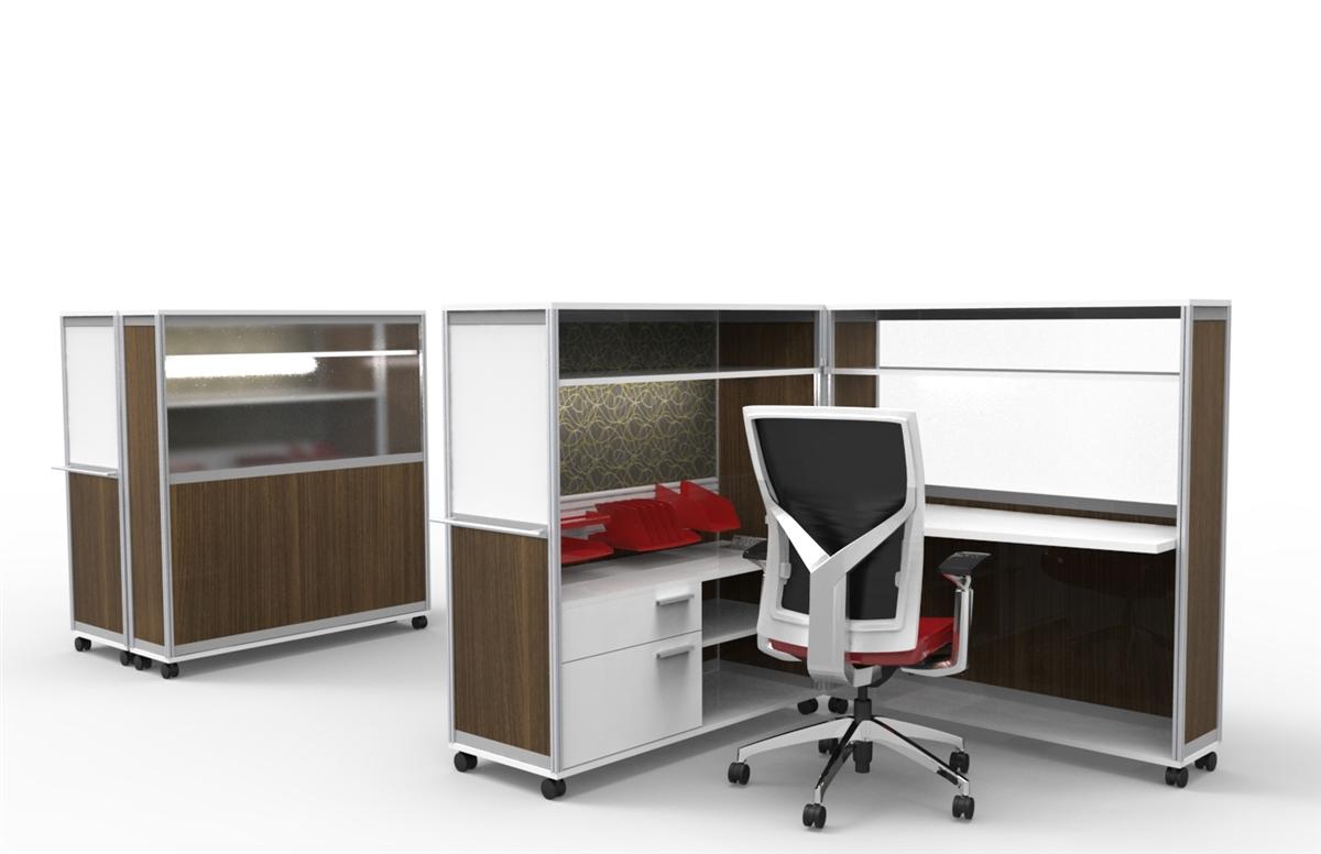 Mobile Computer Workstation Desk