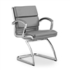 Modern White Leather Guest Chair