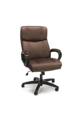 PLUSH HIGH BACK MICROFIBER OFFICE CHAIR