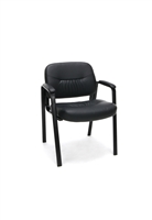 LEATHER EXECUTIVE SIDE CHAIR WITH LEGS