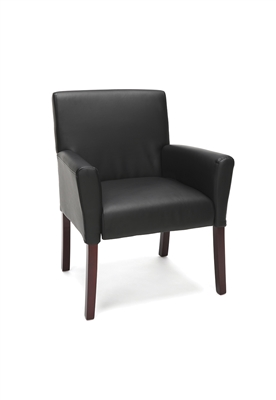 EXECUTIVE ARMED GUEST CHAIR WITH WOODEN LEGS