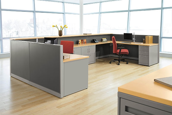 Hon Abound Segmented Tile Modular Cubicle Desks From Boca
