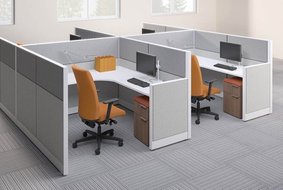 Hon accelerate modular cubicles from boca raton office for Modulos de oficina