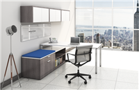 L shape workstations