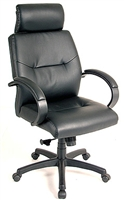 Leather Tall Back Chair