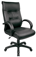 Black Leather High Back Chair