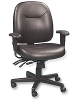 Black Leather Ergonomic Chair
