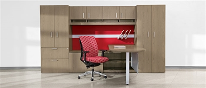 Lufton Wood veneer L Desk