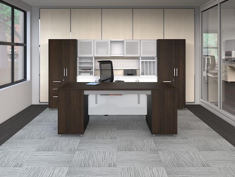 mayline e5 open plan benching desk system at boca raton office
