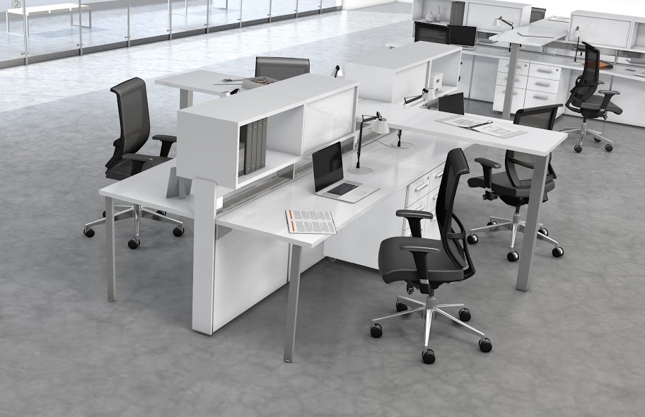 Mayline E5 Open Plan Benching Desk System at Boca Raton Office ...