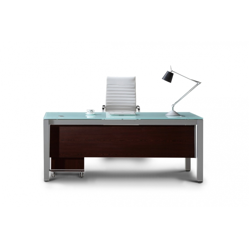 Modern Office Desk: Corp Designs Sling Series Glass Top Executive Desks CD