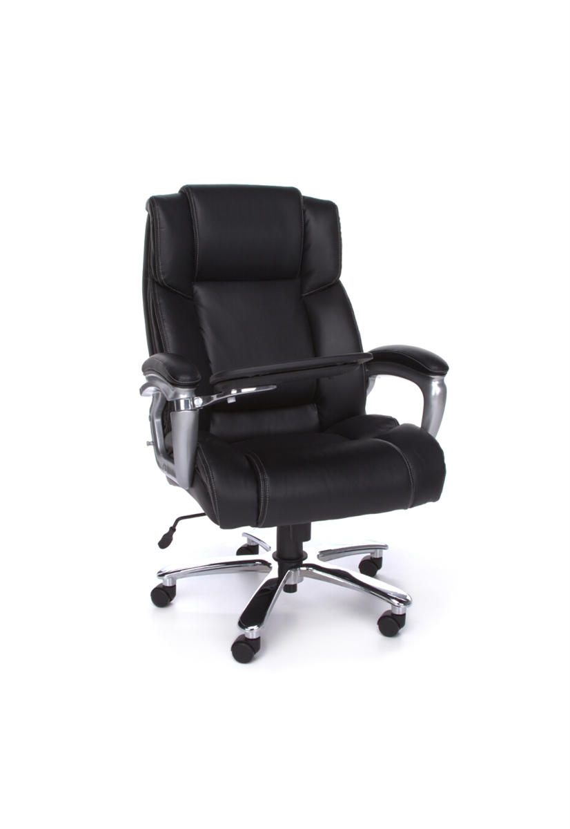 And Tall Ergonomic Leather Office Chair With Tablet